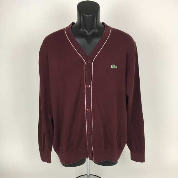 sale usa online sold worldwide run shoes Lacoste LIVE Cardigan Button Up Sweater - Size 6
